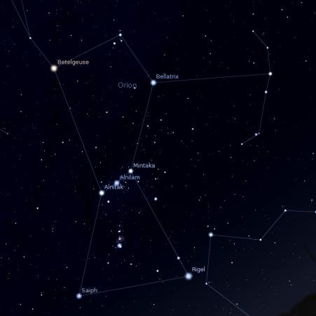 Orion stellarium