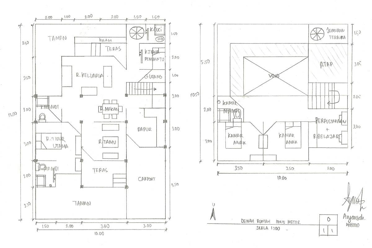 Denah Rumah Sederhana 10 X 15 Meter Aryansahs Mind Trash