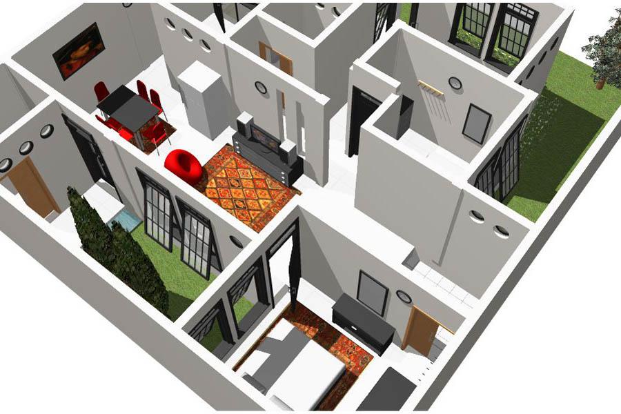 Gambar rumah modis update: Rumah Minimalis 6 X 12