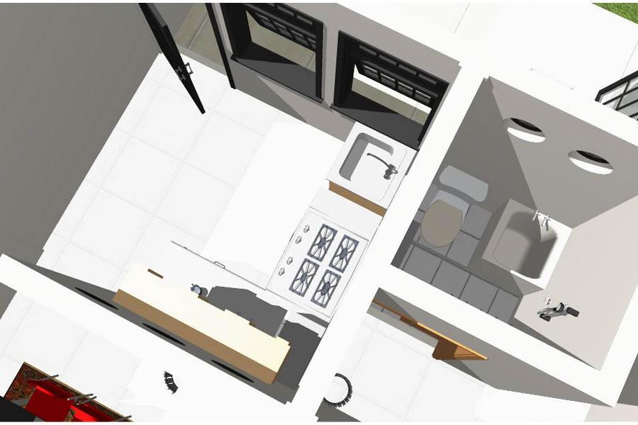 desain rumah sederhana 10 x 12 meter dunia teknik sipil