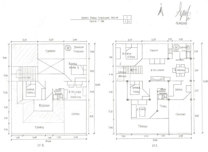 Desain Rumah Minimalis Ukuran 7x12 Meter  desain rumah sederhana 10 x 12 meter aryansah s mind trash